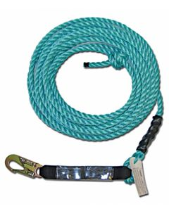 POLY STEEL ROPE VERTICAL LIFELINE ASSEMBLY 50'