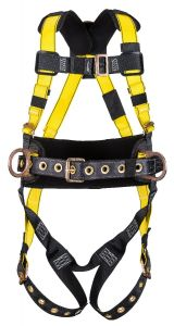 Workmans FULL BODY HARNESS with pads and back and Side D-rings-Size - STD