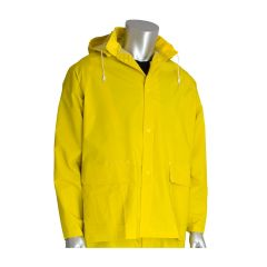 Rainsuit 3 Piece - .35MM PVC/Polyester, Hood, Corduroy Collar (YELLOW)