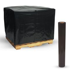 """BLACK PALLET COVER BAGS 4X4' Heavy Duty 3 Mil Pallet Covers, Black 48"""" x 48"""",50-Pack Roll of 50"""