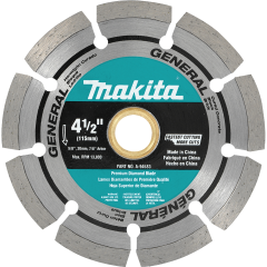 "4-1/2"" Diamond Blade, Segmented, General Purpose"