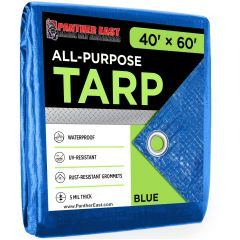 Blue Poly Tarps On Sale, Best Price for 50'x100' 30'x60'