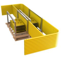 Tie Down / Roof Zone Guardrail Pallet Kit (Standard) #70761 70762 includes 11 Rails @ 10 ft. and 12 Universal Guardrail Bases