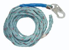 "Vertical Lifeline - 50' VLL Snap Hook + Back Splice 5/8"" Blue"
