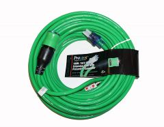 Pro-Lock Outdoor Power Cord 50ft-12/3 Gauge-GREEN