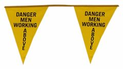 Warning Line Pennant Flags
