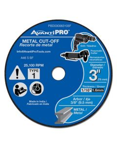 "Pro 3"" x 1/16"" x 3/8"" Metal Cut Off Disc"