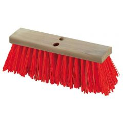 Stiff White Synthetic Street Broom