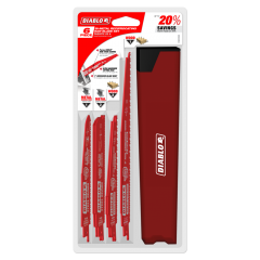 Nail-Embedded Wood and Metal Demolition Recip Set