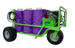 The Donkey Roofing Adhesive Spray Cart - Holds up to 8 tanks. spray 2 guns simultaneously!