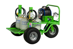 Lil' Donkey Mobile Roofing Bonding Adhesive Spray Application Cart. Hold 4 - 6 tanks at a time & Spray 2 Guns Simultaneously! For For Carlisle CAV-GRIP 3