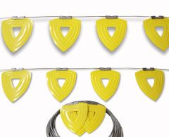 ENDURALINE Heavy-Duty Permanent Warning Line System thats non penetrating for Fall Prevention & Fall Protection.