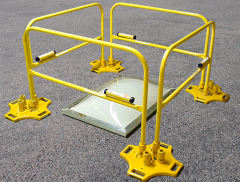 SafetyRail 2000 Hatch Kit (Powder Coated Base / Powder Coated Rails)
