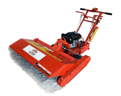 CLEASBY Industrial Power Broom for Roofing Tear-off and Demolition, Grounds care, Concrete, Stone, Asphalt, Plastic, PVC, and other surfaces.