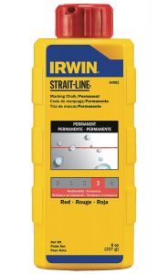 Strait-Line RED Marking Chalk, 8oz., (64902)