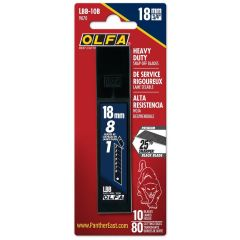 18mm HD Black Snap-Off Blades (10 Pack) LBB-10B, #9070 | OLFA