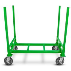 NWD-F44 4'X4' CONSTRUCTION CART, FOUR WHEELED LEAN FLAT CARTS NU-WAVE SCAFFOLDING SYSTEMS DRYWALL MATERIAL CART MADE IN AMERICA