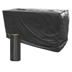4 ft. X 8 ft. Black Pallet Covers Topper Bags Roll of 25,3 mil Poly Covers