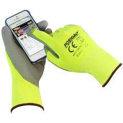 HVY713SUTS PIP POSIGRIP Yellow Green Work Gloves with Touchscreen Phone Compatibility - Tablet Capable
