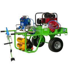 PJR VEE AIR ONE ROOF SPRAYER AMPED EQUIPMENT CARLISLE ROOF CART WITH GRACO OEM REACTOR