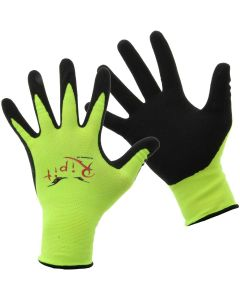 RIPIT HI-VIS YELLOW GREEN SAFETY GLOVE 00Y | DRYWALL GLOVES FORM FITTING, TOUCH SCREEN FRIENDLY. Best Work Gloves To Use With a Cell Phone Screen at https://www.panthereast.com 