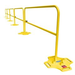 Bluewater manufacturing safety rail safety rail guard rails 10 feet 5 feet 7.5 foot railings with powder coated bases on sale #500005
