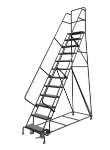 Fiberglass Platform Warehouse Ladder