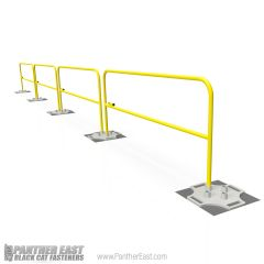 BlueWater By Tractel SR2K SafetyRail 2000 Passive Fall Protection Guardrail Safety Railing System Garlock Equivalent, Guardian Fall Protection Guardrailing Comparable, Equivalent to safety Rail Company,
