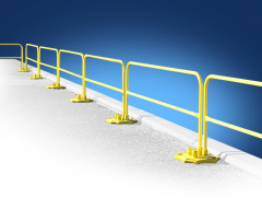 SafetyRail 2000 Rail Kit (Galvanized Base / Powder Coated Over Steel Rail)