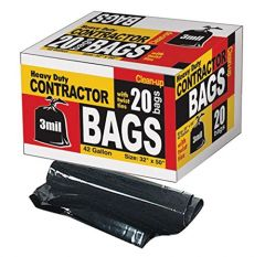 Trash Bags - Contractor Trash Bags 20ct