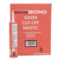 Water Cut-Off Mastic 11 Ounce Tubes - 25 Pack Box of Cartridges, Carlisle WeatherBond WEA-309830 On Sale at www.panthereast.com