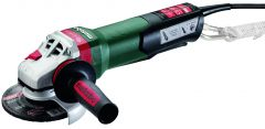 "WEPBA 17-125 Quick DS 5"" Angle Grinder - 11,000 RPM - 14.5 AMPS w/Brake, Non-Lock Paddle, Auto-balancer, Electronics, Drop Secure"
