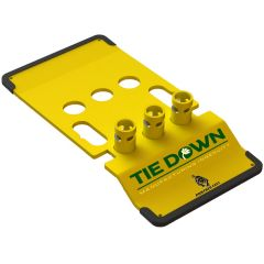 70756 ZIP BASE TIE DOWN SAFETY RAIL GUARDRAILS, UNIVERSAL GUARDRAIL BASE, YELLOW SAFETY RAIL GUARDRAIL BASES ROOF ZONE #70756-G IN STOCK AND ON SALE NOW