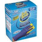 50 pack pairs of Nitrile Blue Disposable Gloves - Soft Scrub - On Sale & In Stock at www.panthereast.com