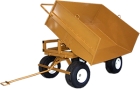 Dump Tray Attachment  for 4 Wheel Trailer