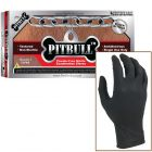 Black Nitrile PITBULL Gloves Disposable, XL, PB500XL