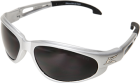 Dakura Safety Glasses, Silver with Smoke Lens