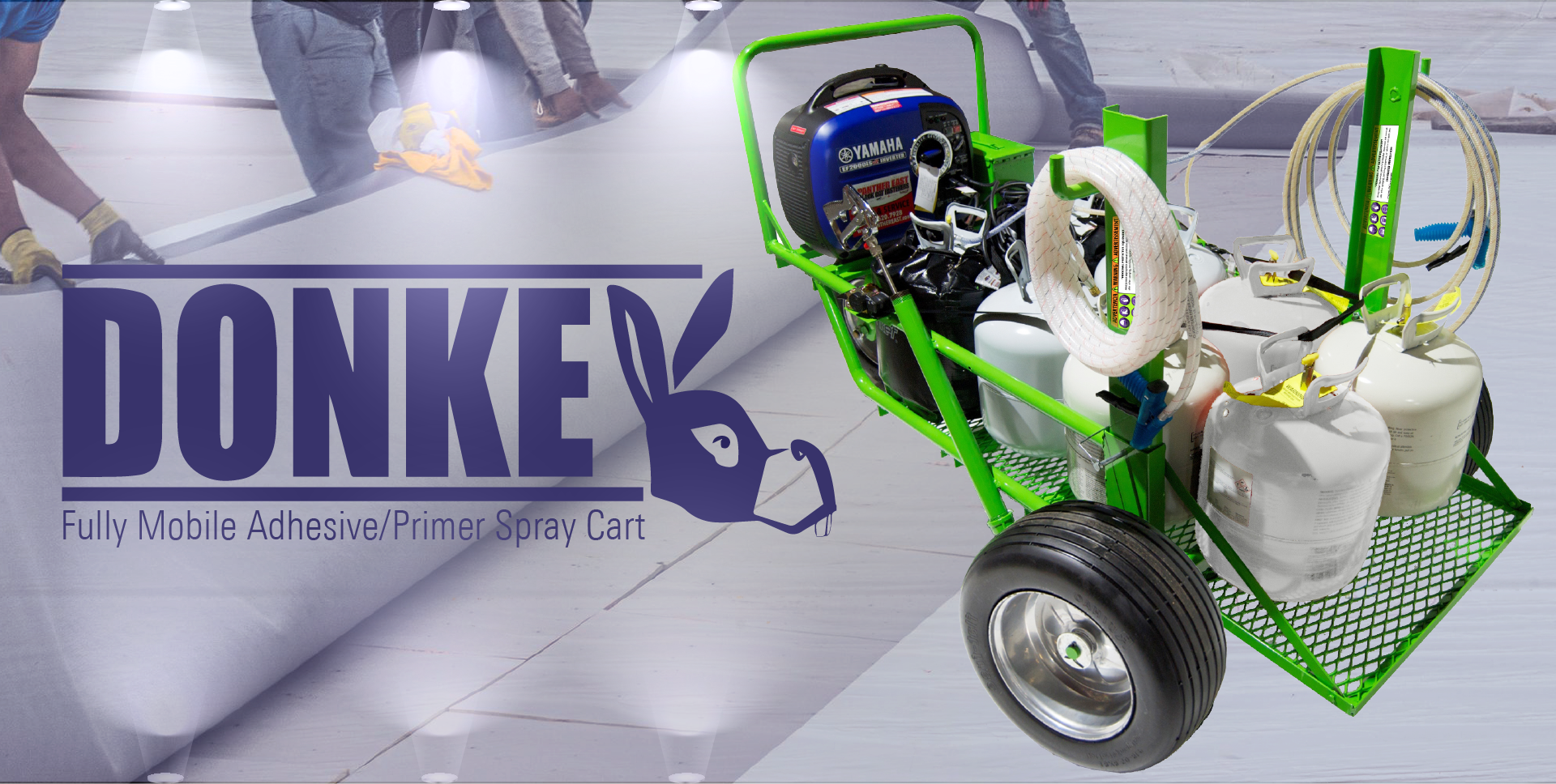 The Donkey - Mobile Adhesive and Primer Spray Foam Roofing Cart