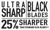 OLFA 18mm BLACK SNAP BLADE 10-PACK LBB-10B #9070
